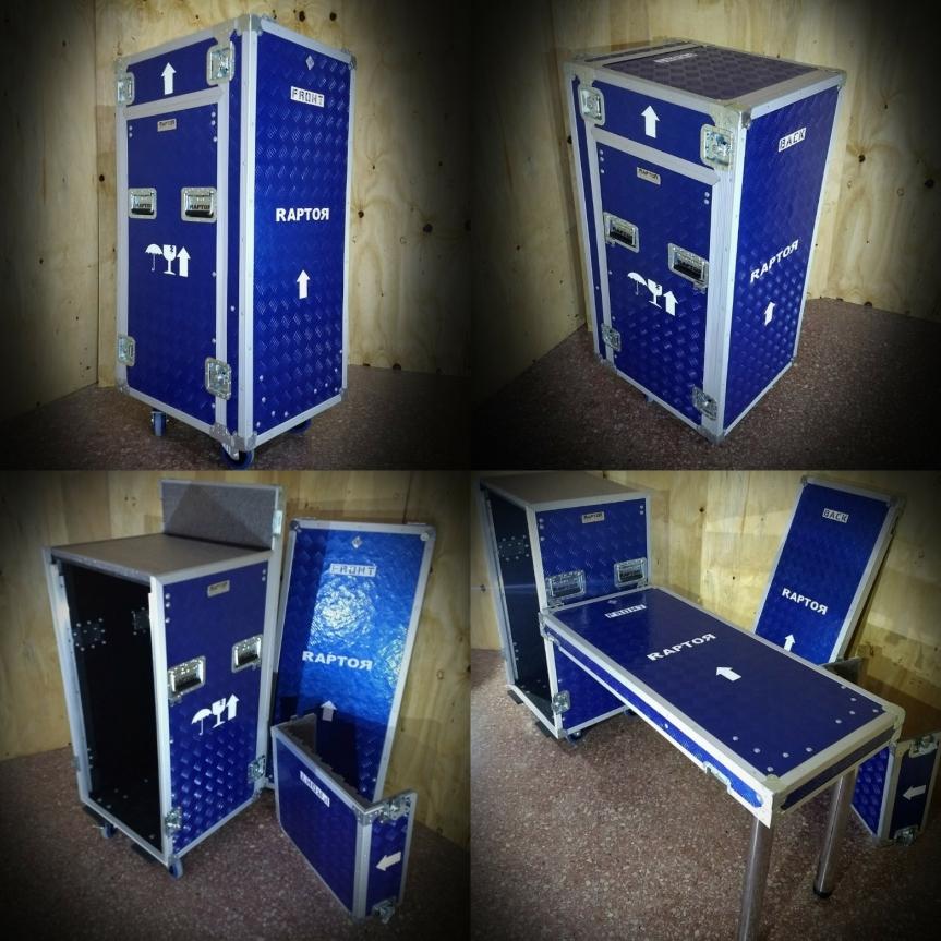 Anvil Rack cabina móvil con mesa y 20unidades
