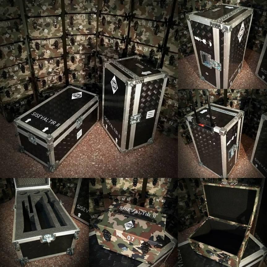 Estuches para armamentos y equipospesados