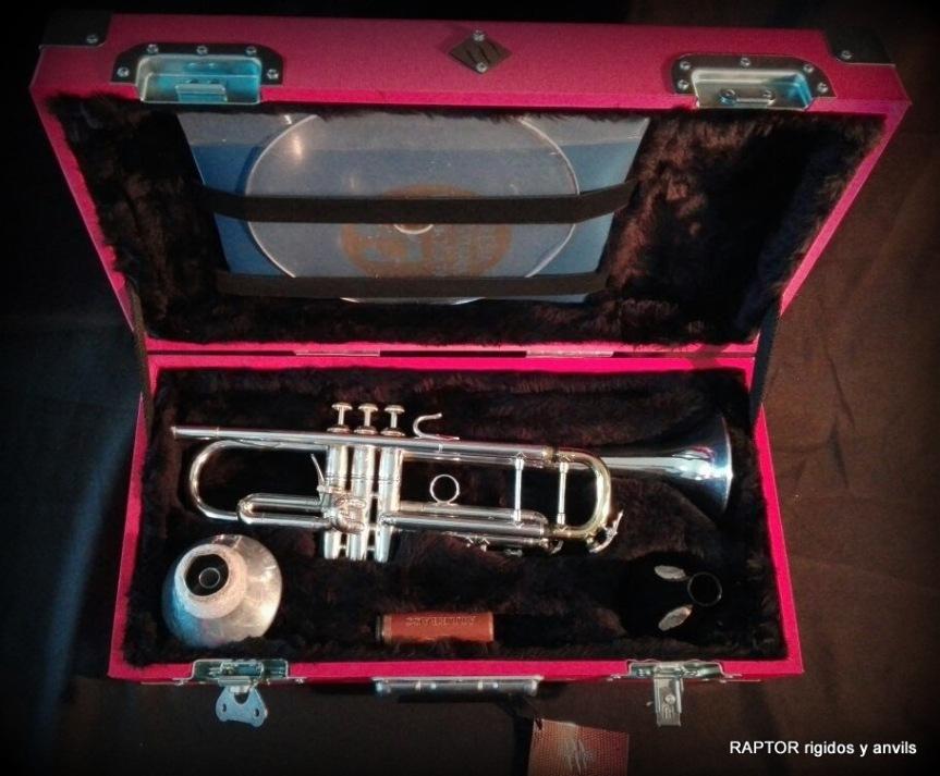 Estuche rigido para trompeta o saxo amedida.