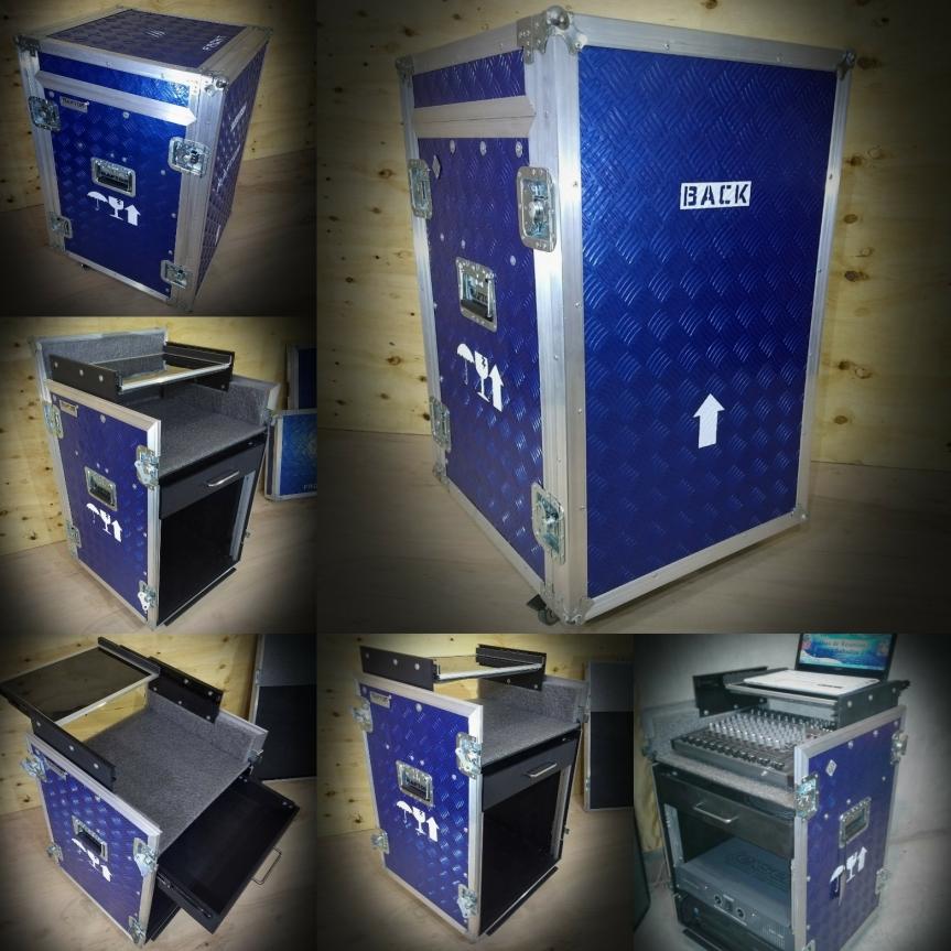 Rack Anvil 12 unidades cabina de sonido envivo