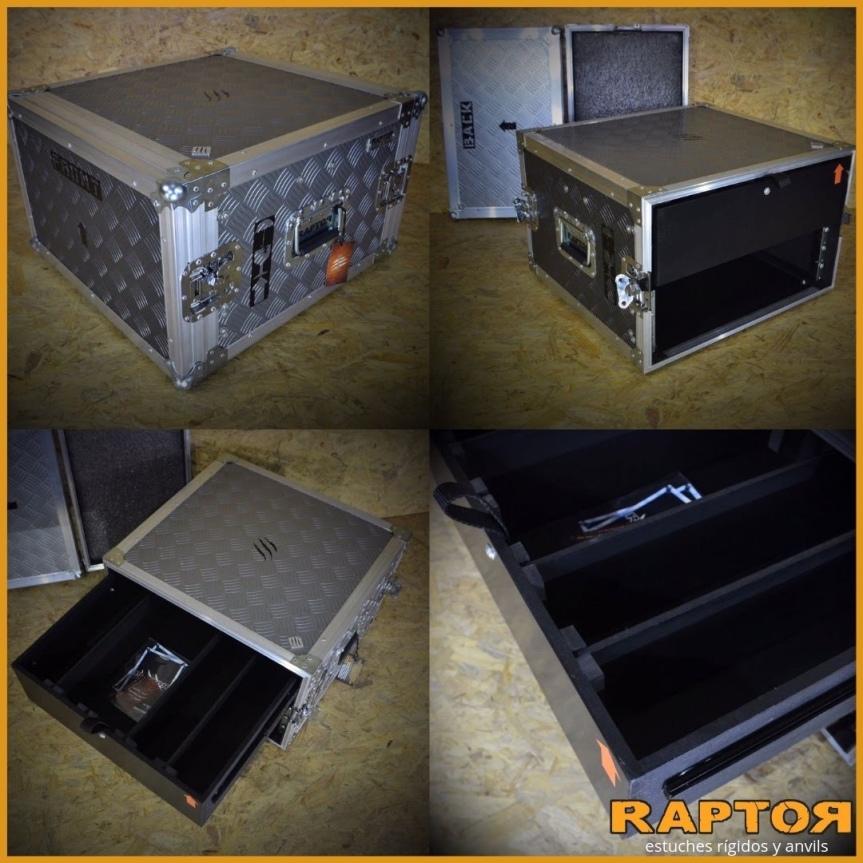 Rack con cajón – rackera 6 unidades –anvil